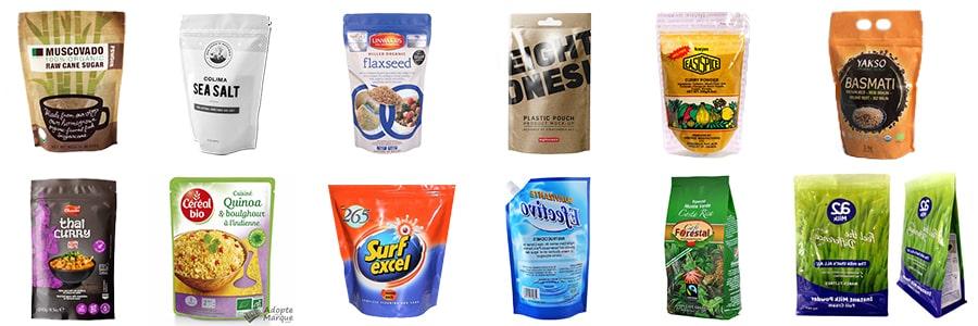 Rotary packing machine for sugar, salt, monosodium glutamate, etc.