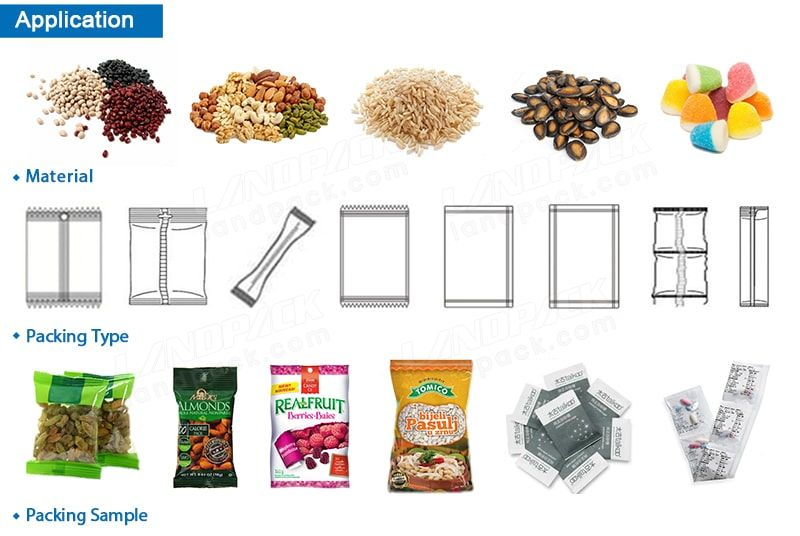 Granular, Strip and Flake Solid Materials Packaging Machine With Measuring Cups Equipment LD-320A/380A