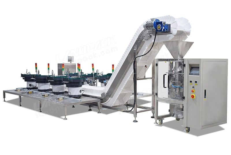 Mixd Material In One Bag Counting Packing Machine With Multiple Vibrate Feeder LD-520AH