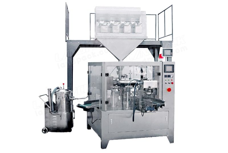 Rotary packing machine for sugar, salt, monosodium glutamate, etc.