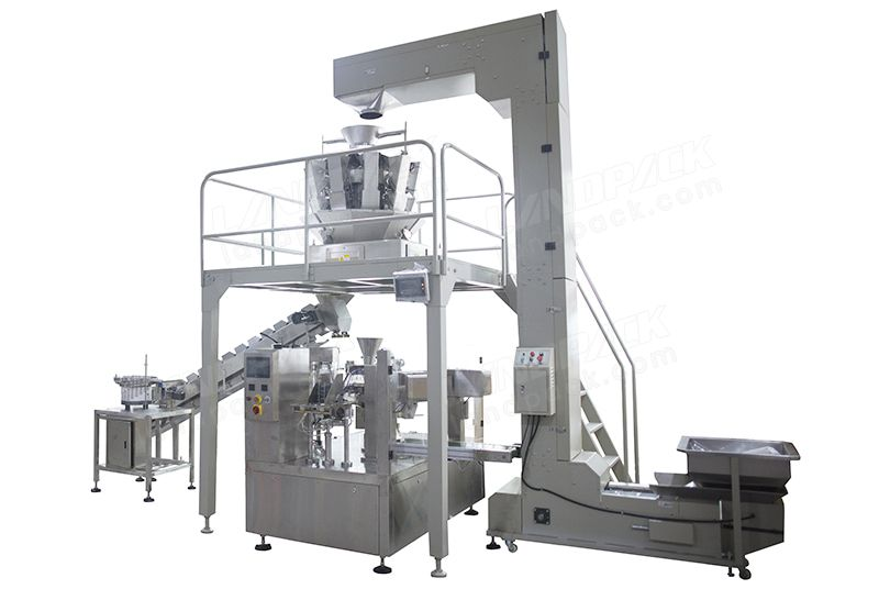 Automatic Rotary Premade Pouch Mixed Grain Packing Machine With Vibrating Disc
