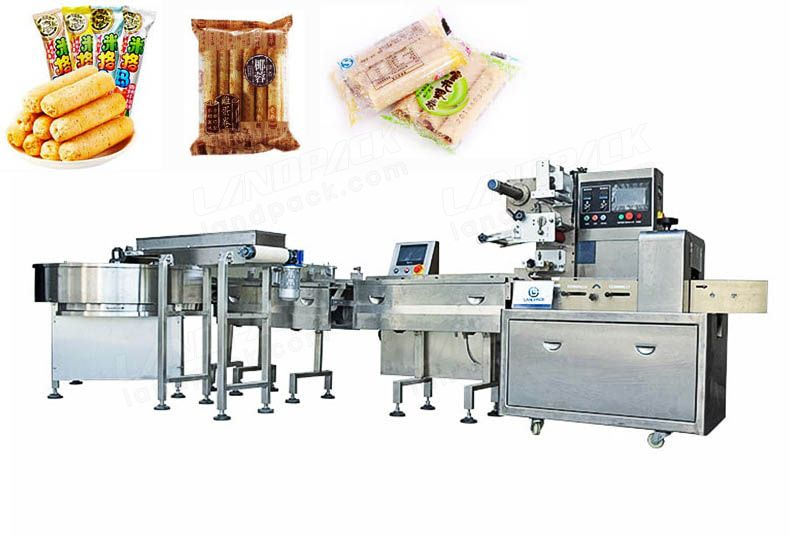 Food Bar Feeding And Packing Line For Chocolate Bar, Candy Bar Etc.