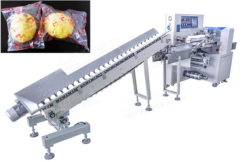 Spherical Fruit And Vegetable Flow Wrap Machine for Lemon, apples etc.