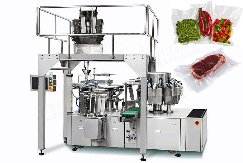 Vacuum Rotary Pre-made Pouch Packaging Machine