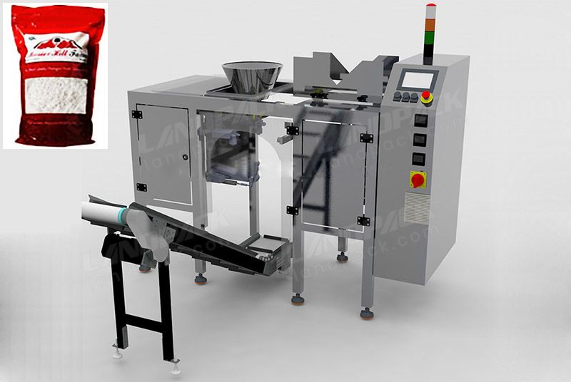 Single Station Doypack Preformed Pouch Filling Packing Machine