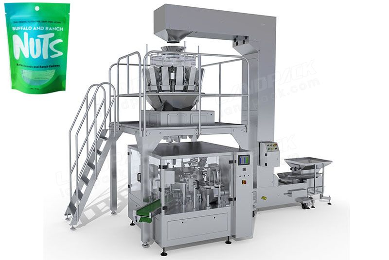 Nuts Rotary Packing Machine For Premade Pouch/ Zipper Pouch Etc.