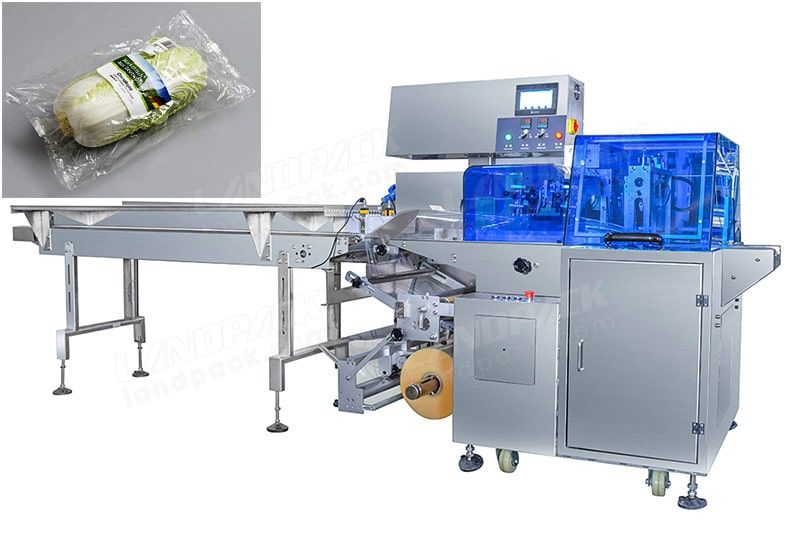 Fruit/ Vegetable Reciprocating Flow Pack Machine (HFFS), With Three Servo.