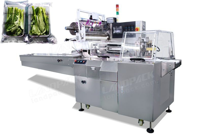 Auto Vegetable And Fruit Tray Flow Wrap Machine