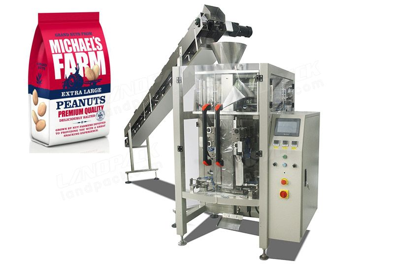 Quad Seal Bag/ Block Bottom Pouch Packing Machine for Nuts Beans Peanut, etc.
