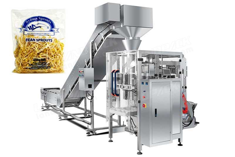 Automatic Bean Sprouts Packaging Machine With Chain Bucket