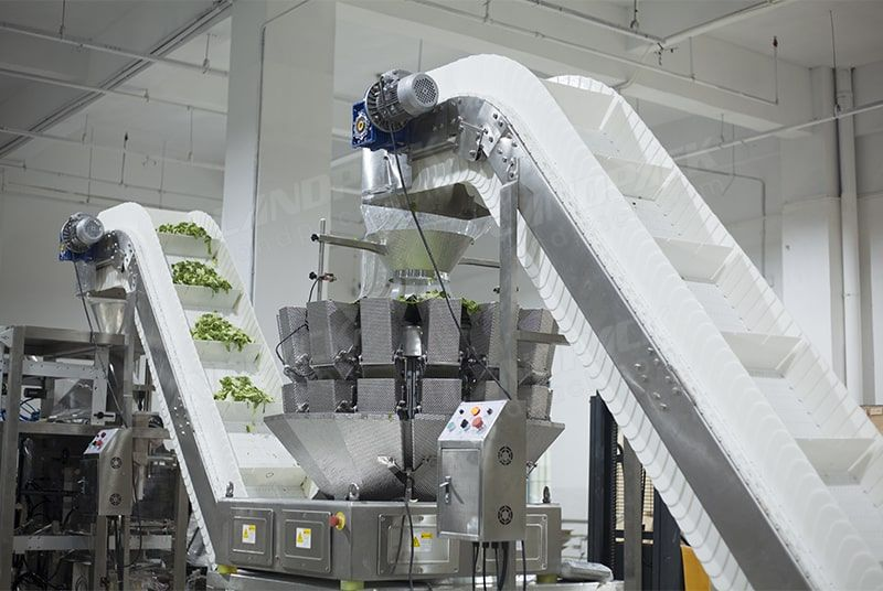 Vegetable Salad Lettuce Packing Machine with Multi Head Weigher