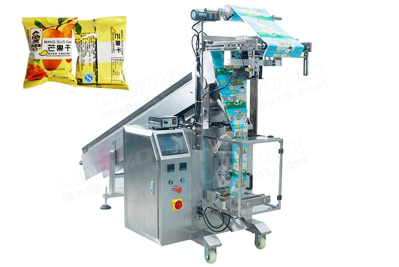 Semi-Automatic Chips/ Crisps/ Snacks Packing Machine With Chain-type Batchers