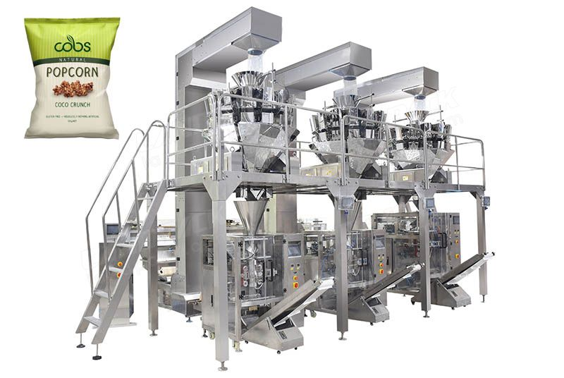 Automatic Vertical Form Fill Seal Pouch Packaging Line
