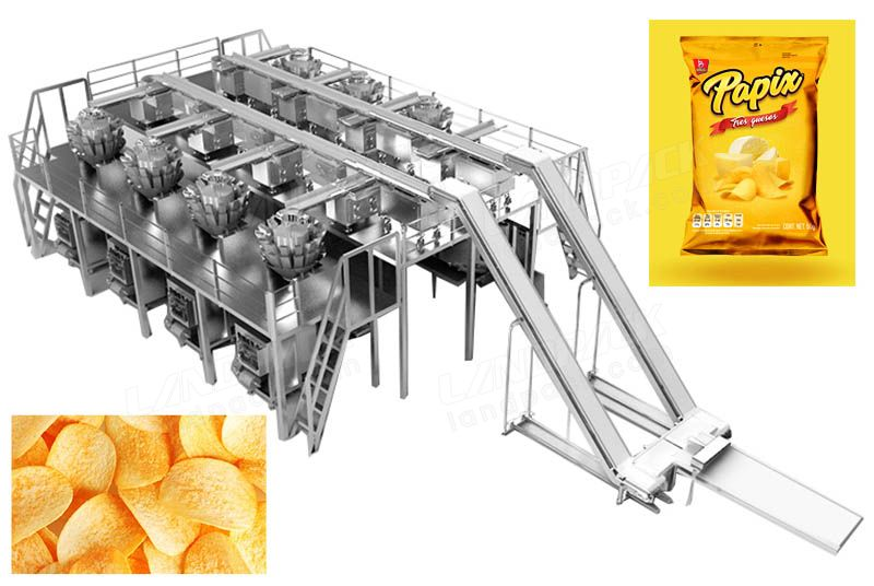 Auto Chips, Popcorn, Snack, Crisps Puffed Food Packing System