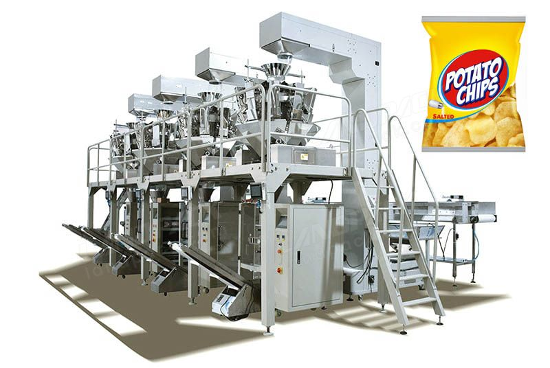 Automatic Potato Chips/ Popcorn/ Snacks Vertical Packing System