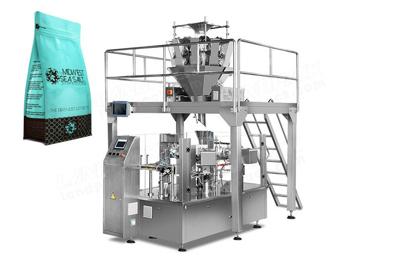 Chips/ Popcorn/ Snacks Rotary Packing Machine For Premade Pouch.