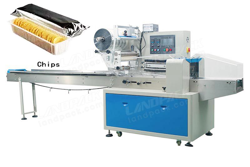 Flow Pack Machine For Potato Chips/ Crisps Packaging.