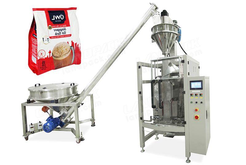 Coffee Powdefr Quad Seal Bag/ Block Bottom Pouch Packing Machine