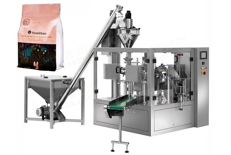 Coffee Powder Premade Pouch Rotary Doypack Machine