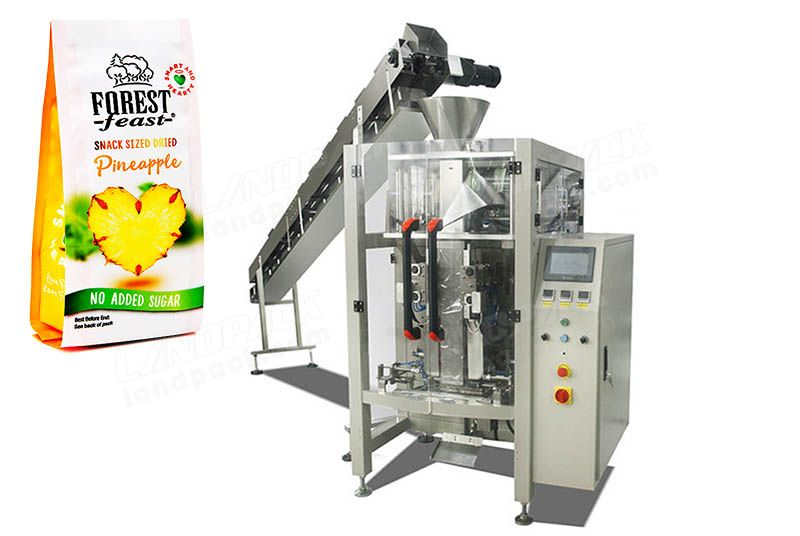 Dry Fruit Quad Seal Bag/ Block Bottom Pouch Packing Machine