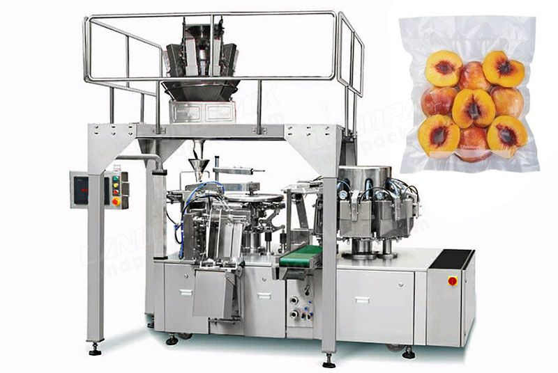 Dry Fruit Vacuum Rotary Pre-made Pouch Packaging Machine