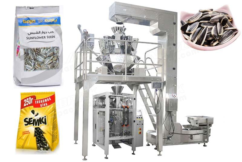 0.1% Weight Precision Various Seeds Quad Seal Bag/ Block Bottom Pouch Packing Machine