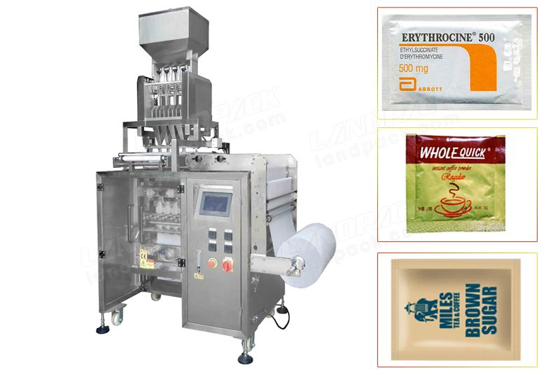 Multi Line Side Sealing Bag Granule Packing Machine.