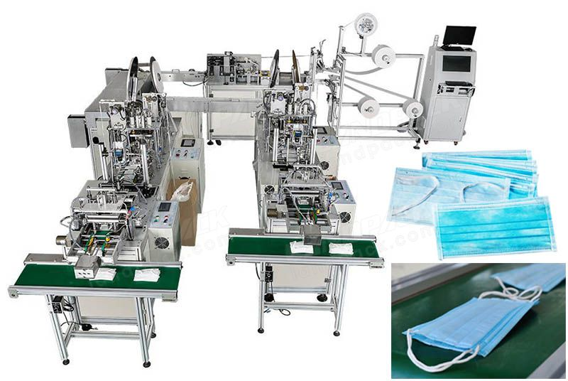 Full Automatic Surgical Mask Making Machine, Face Mask Producing Machine.
