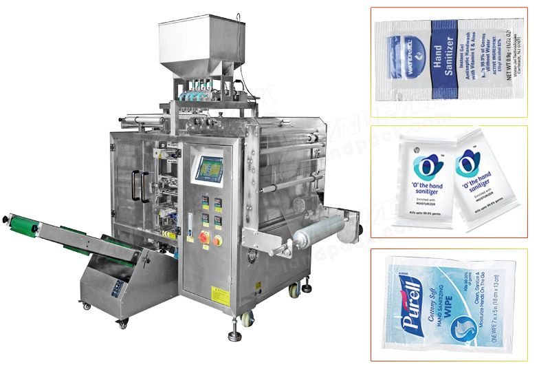 Multi Track Side Sealing Bag Disinfectant Liquid Sachet Packing Machine