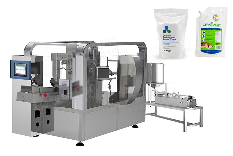 Alcohol Premade Pouch Fill And Seal Machine.
