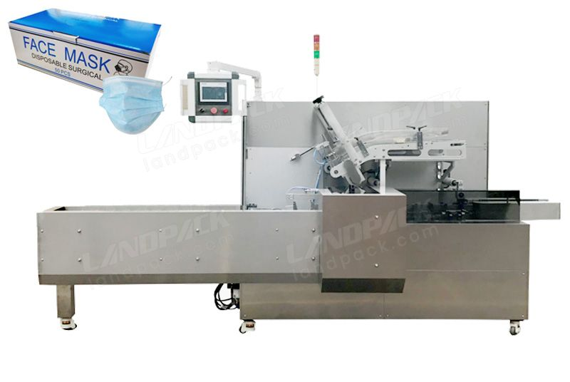 Automatic Face Mask/N95 Box Cartoning Packing Machine