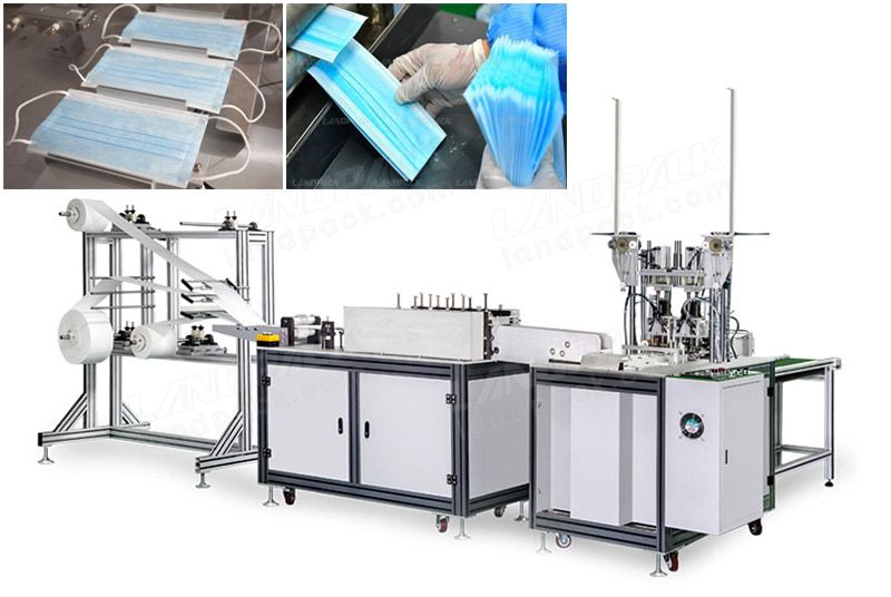 Automatic 3 Ply Medical Face Mask Making Machine.