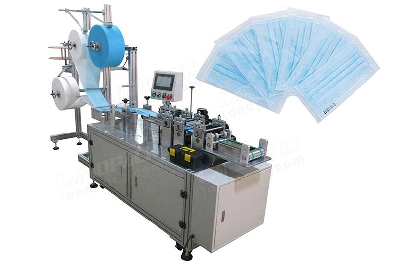 Semi Automatic 3 ply Surgical Face Masк Blank Making Machine