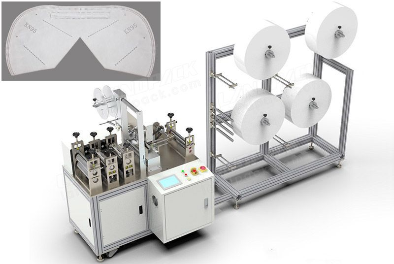 Semi-Automatic Nonwoven Anti-Dust N95 Face Masк Making Machine