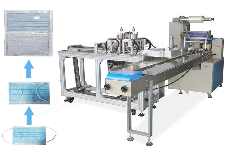 Automatic Surgical Masк Packing Machine Combined Foldable Ear String Machine.