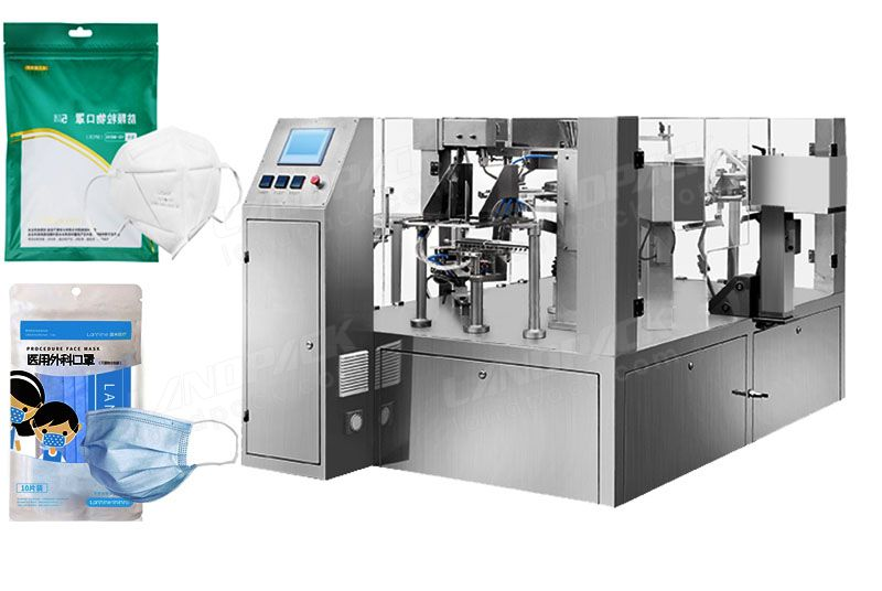 High Efficient KF 94/ KN 95/ N 95 Face Masк Rotary Packing Machine