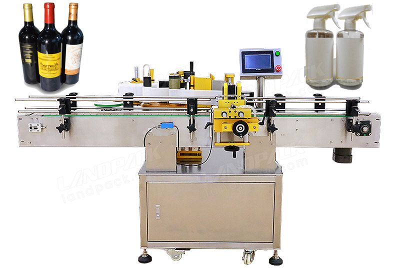 Automatic Round Bottle Dual Servo Driving Labeling Machine.