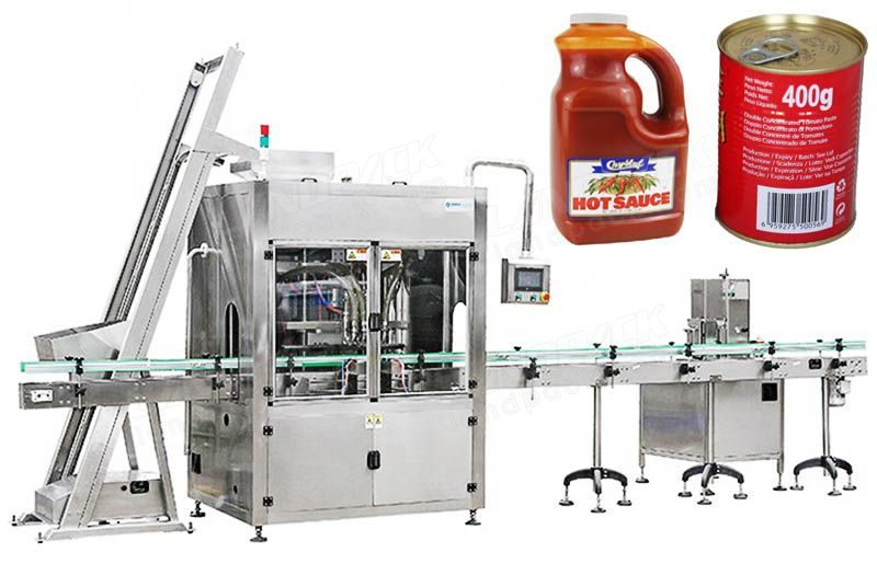 Automatic Sauce/ Jam Bottling Filling Machine With Self - Cleaning System
