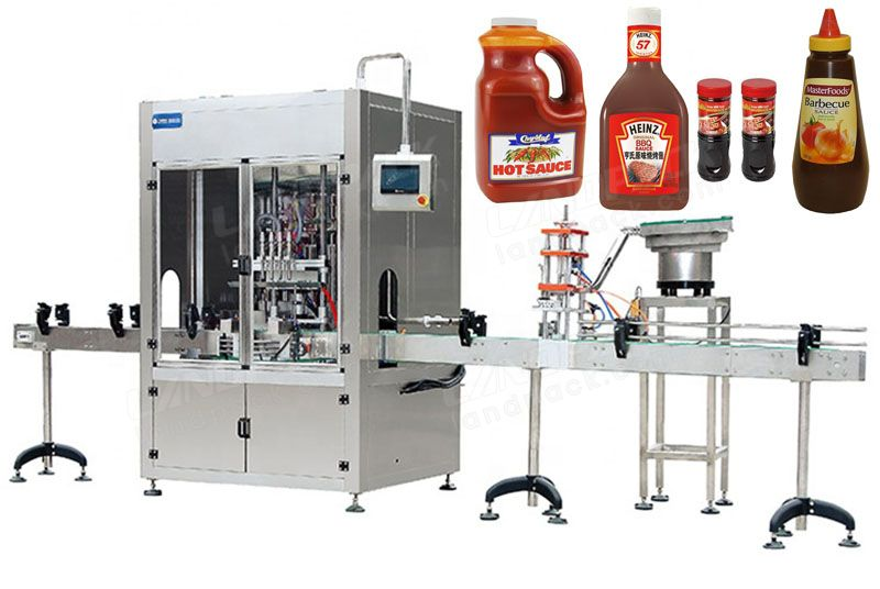 Automatic Multifunction Filling Machine Line With Self-Cleaning System.