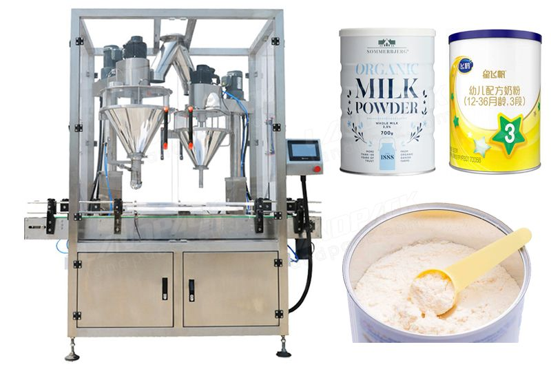Automatic Powder Filling Machine Suitable For Cans Bottles And Tins