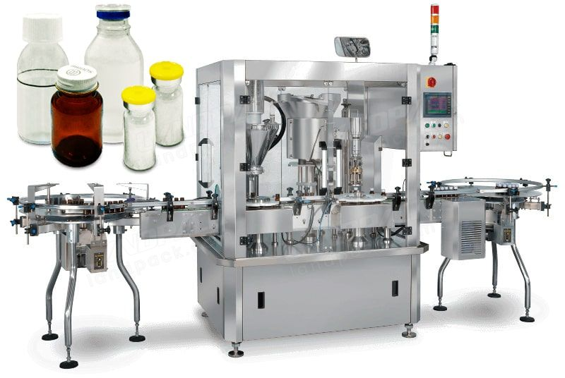 Automatic Powder Filling and Capping Machine Small Volume