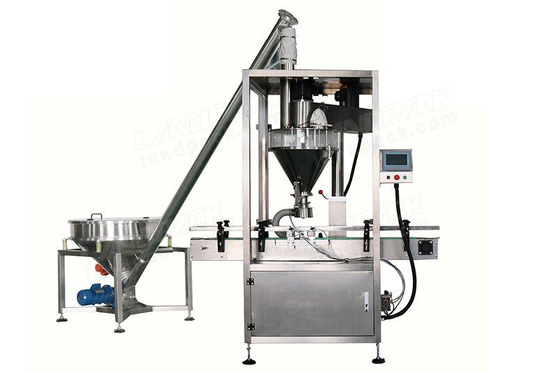 Multi-Function Auger Type Powder Bottle Filling Machine