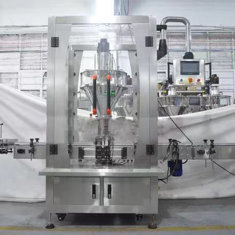 automatic powder bottle filling machine