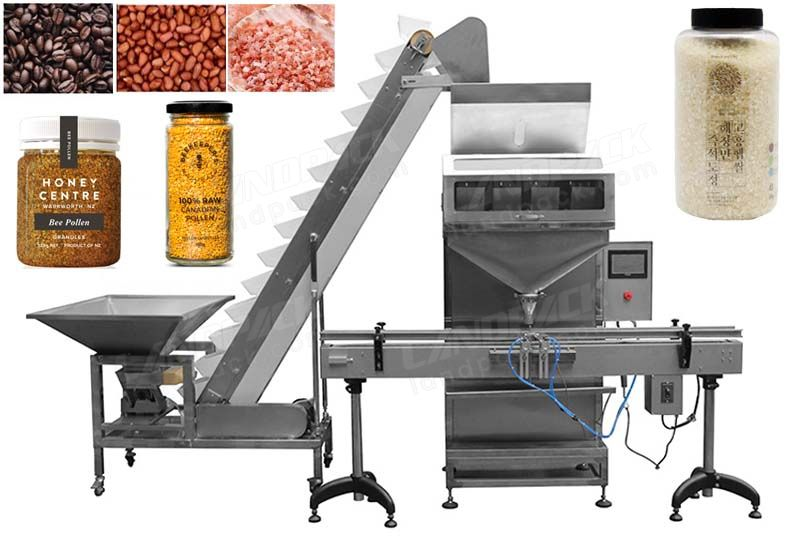 Automatic Bottle and Can Weigh Filler Granule Filling Machine for Rice Nuts Grain Beans