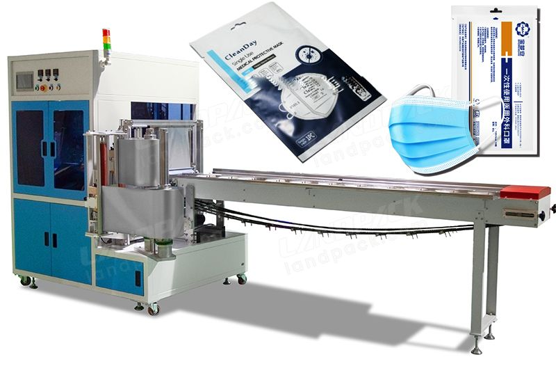 Automatic Surgical Mask/ KN94 Mask Four-Sides Sealing Bag Packing Machine