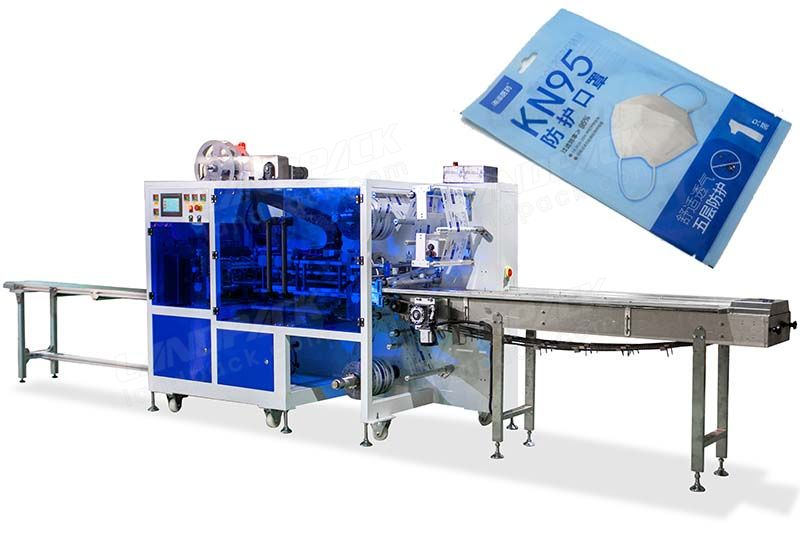 High Speed Double-Channel Four-Side Sealing Mask Packaging Machine