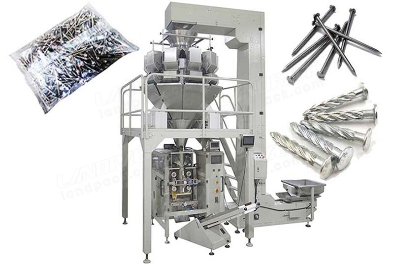 Full Automatic Hardware/ Fastener/ Nail Packing Machine With Multihead Weigher