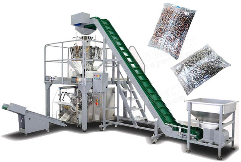 Automatic Fastener Weighing And Pouch Packing Machine.