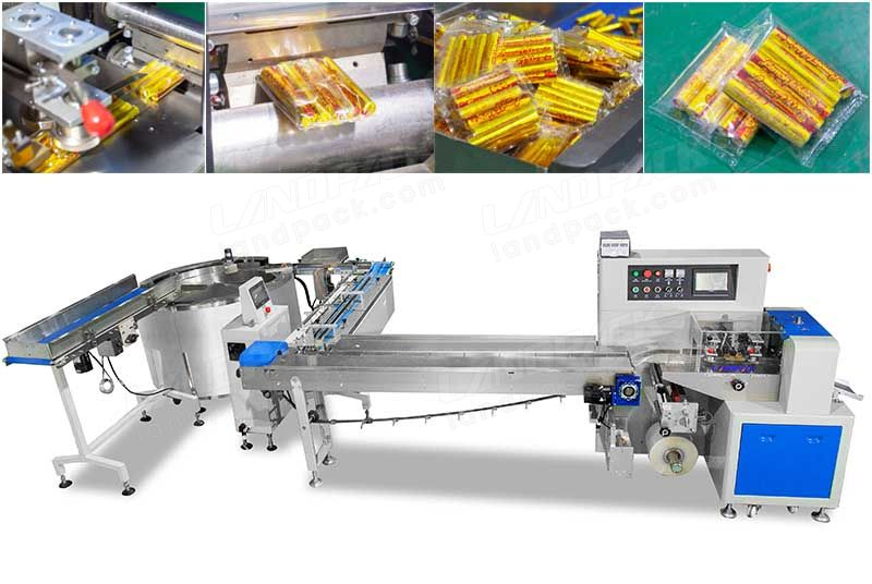 Automatic Lemon Cake Horizontal Flow Wrap Machine