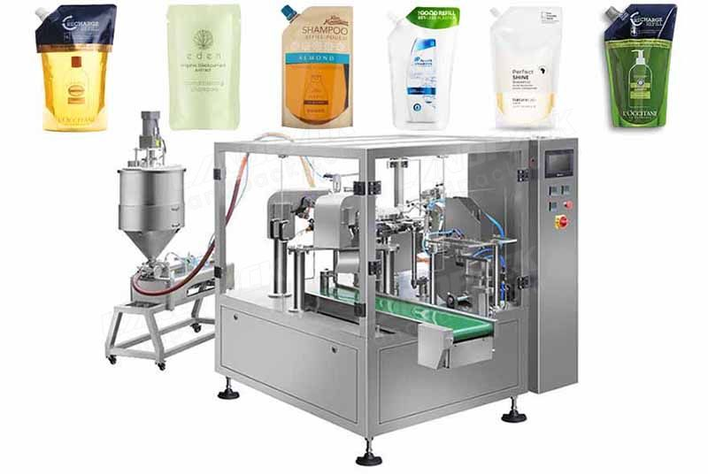 Automatic Liquid Premade Pouch Rotary Filling Machine